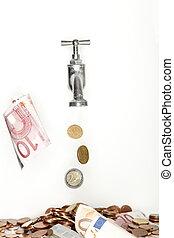 flowing money