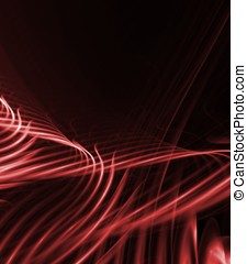 Flowing Reds Abstract - Flowing streaks of tangled reds -...
