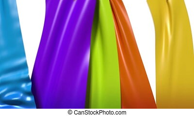Flowing Ribbons - Flowing colorful ribbons.