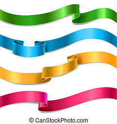 flowing satin or silk ribbons collection