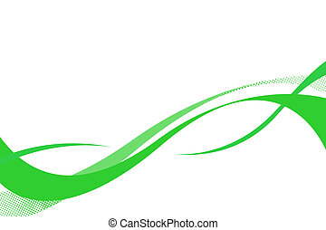 Flowing Swoosh Curves - Flowing green curves layout with...