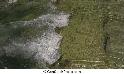 Flowing Water - a fast flowing stream running over rocks