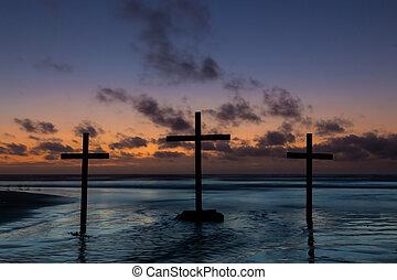 Flowing Water Crosses