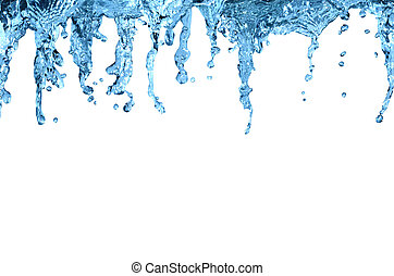 Flowing water abstract background isolated with clipping path