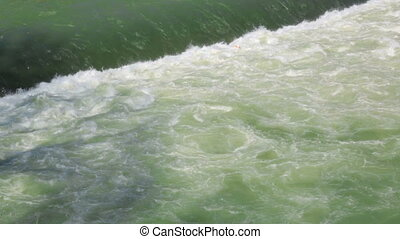 Flowing water in river