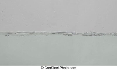 Flowing water on white background