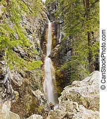 Flowing Waterfalls in Banff
