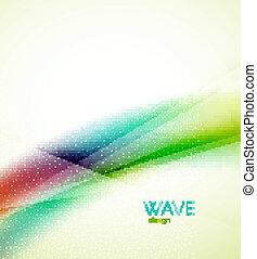 Flowing wave of blending colors