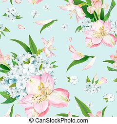 Flox flower seamless