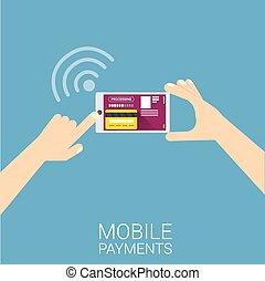 flsmartphone, procesamiento, de, móvil, pagos