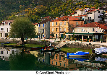 fluß, crnojevica, montenegro, dorf