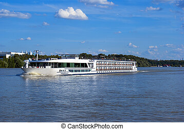 fluß, riverboat, donau, ungarn