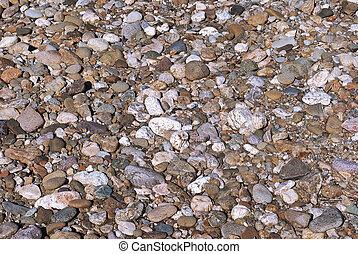 fluß, steinen