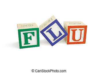 FLU Alphabet Blocks, tilted L