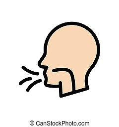 flu  flat color icon