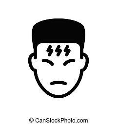 flu  glyph flat icon