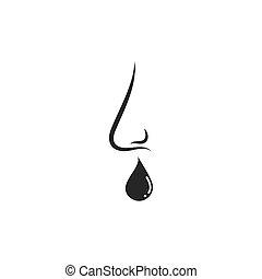 flu nose vector icon illustration