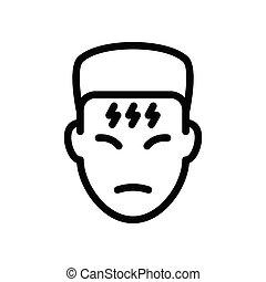 flu  thin line icon