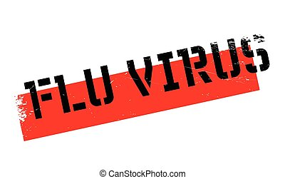 Flu Virus rubber stamp