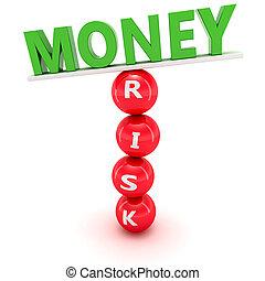 fluctuations, dans, marché financier