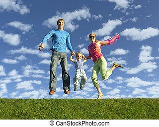 flue, familie, glade