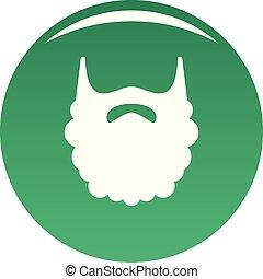 Fluffy beard icon vector green