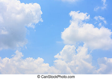 Fluffy cloud against blue sky background