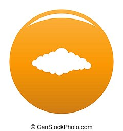 Fluffy cloud icon orange