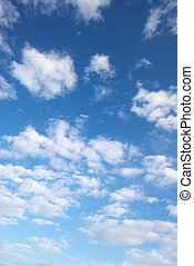 fluffy clouds - blue sky and beautiful fluffy white clouds, ...