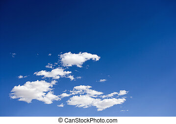 Fluffy clouds. - Cumulus clouds in blue sky.