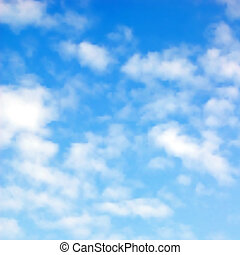 Fluffy clouds - Editable vector illustration of fluffy white...
