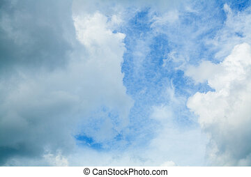 Fluffy Clouds In Blue Sky. Background From Clouds.