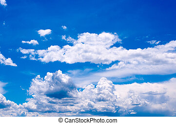 Fluffy clouds - Large group of the fluffy clouds on blue sky