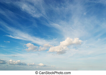 fluffy clouds - blue sky with fluffy clouds