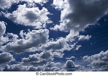 Fluffy Clouds - The Blue Sky and Fluffy Clouds