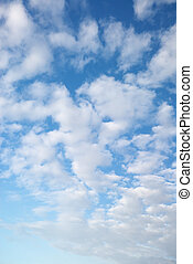 fluffy clouds - blue sky and beautiful fluffy white clouds,...