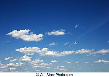 Fluffy clouds. - Fluffy clouds in blue sky.