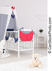 Fluffy friends waiting to meet their little mate - Baby cot...