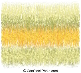 Fluffy grunge striped weave rug,  mat, carpet, coverlet ,tapestry in yellow, green, orange pastel colors isolated on white