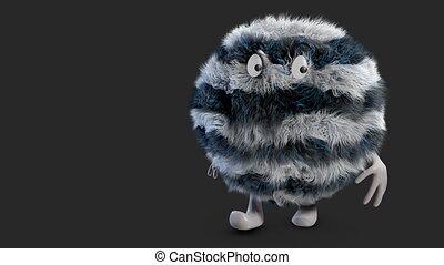 fluffy hairy ball alpha channel - Prisoner Fluffy Hairy Ball...