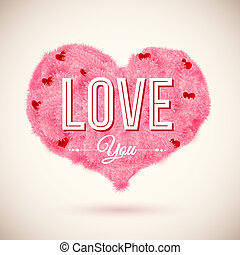 Fluffy heart icon for Your romantic design. Vector...