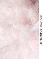 Fluffy pink feather light and cloudy