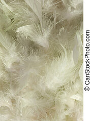 Fluffy slushy smoky snow white feather background