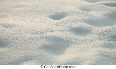 white snow drifts