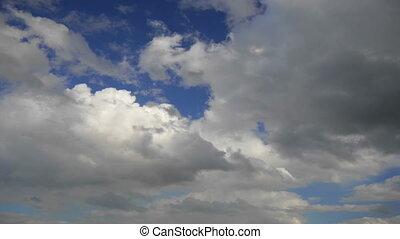 flug, aus, wolkenhimmel, loop-able, animation