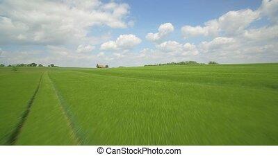 flug,  gras, Luftaufnahmen, hoch, deutschland, Oben, ackerland, Geschwindigkeit