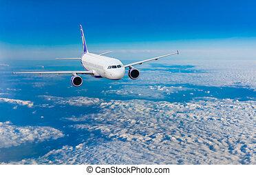 flug, motorflugzeug