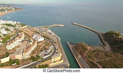 flug, porto, aus, Luftaufnahmen,  Albufeira,  Marina