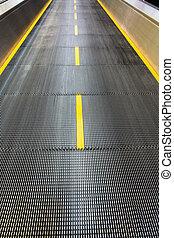 flughafen, beweglicher sidewalk