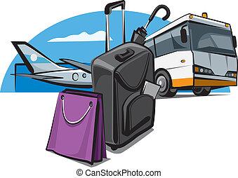 flughafen, gepäck